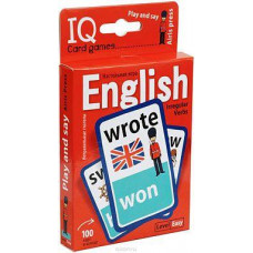 Умные игры с картами. Английские неправильные глаголы. Уровень1. Красный