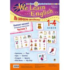 """Комплект наочності """"We learn English"""" (""""Ми вивчаємо англійську"""") : 1-4 класи : у 5 ч. Ч. 3. НУШ"""