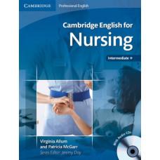 Учебник Cambridge English for Nursing Intermediate+