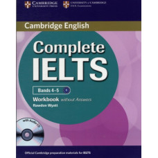 Рабочая тетрадь Complete IELTS Bands 4-5 Workbook without Answers with Audio CD