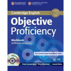 Рабочая тетрадь английского языка Objective Proficiency Second edition Workbook without answers with Audio CD