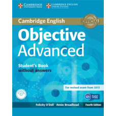 Учебник английского языка Objective Advanced Fourth edition Student's Book without Answers with CD-ROM