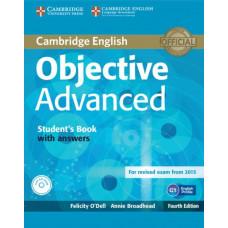 Учебник английского языка Objective Advanced Fourth edition Student's Book with Answers with CD-ROM