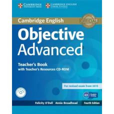 Книга для учителя Objective Advanced Fourth edition Teacher's Book with Teacher's Resources Audio CD/CD-ROM