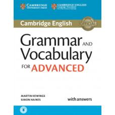 Учебник Cambridge  Grammar and Vocabulary for Advanced Book with Answers