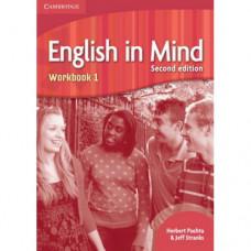 Рабочая тетрадь English in Mind 1 2nd Edition Workbook