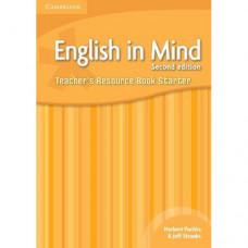 Книга для учителя English in Mind Starter 2nd Edition Teacher's Resource Book