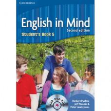 Учебник английского языка English in Mind 5 2nd Edition Student's Book with DVD-ROM