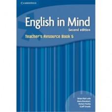 Книга для учителя English in Mind 5 2nd Edition Teacher's Resource Book