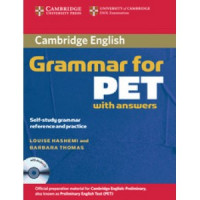 Грамматика английского языка Cambridge Grammar for PET Book with answers and Audio CD