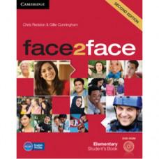 Учебник английского языка Face2face Second edition Elementary Student's Book with DVD-ROM