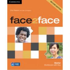 Рабочая тетрадь Face2face Second edition Starter Workbook with Key