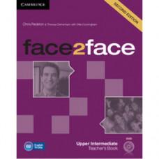 Книга для учителя Face2face Second edition Upper Intermediate Teacher's Book with DVD