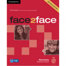Книга для учителя Face2face Second edition Elementary Teacher's Book with DVD