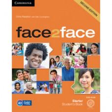 Учебник английского языка Face2face Second edition Starter Student's Book with DVD-ROM