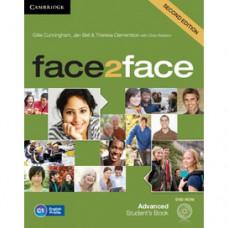 Учебник английского языка Face2face Second edition Advanced Student's Book with DVD-ROM