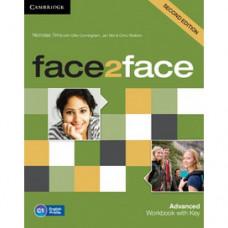 Рабочая тетрадь Face2face Second edition Advanced Workbook with Key
