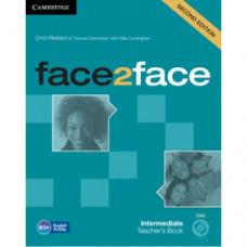 Книга для учителя Face2face Second edition Intermediate Teacher's Book with DVD