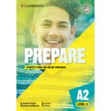 Учебник Cambridge English Prepare! 2nd Edition 3 Student's Book with Online Workbook