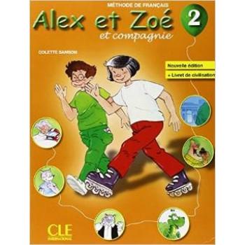 Учебник Alex et Zoe Nouvelle 2 Livre de l'élève + Livret de civilisation + CD-ROM