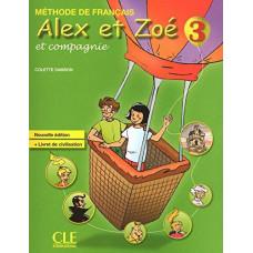 Учебник Alex et Zoe Nouvelle 3 Livre de l'élève + Livret de civilisation + CD-ROM