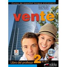 Книга для учителя Vente 2 Libro Del Profesor + CD