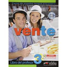 Книга для учителя Vente 3 Libro Del Profesor + CD