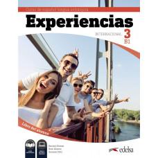 Учебник Experiencias Internacional 3 (B1)  Libro del alumno + audio descargable