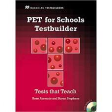 Тесты по английскому языку PET for Schools Testbuilder with Key + Audio CD Pack