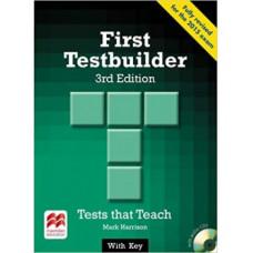 Тесты по английскому языку First Testbuilder 3rd Edition Book with Key and Audio CD