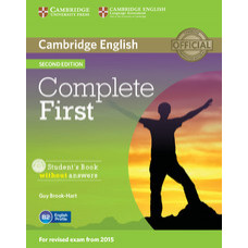 Complete First Second edition Student's Book without Answers with CD-ROM
