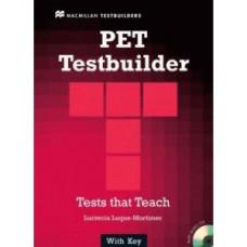 Тесты по английскому языку PET Testbuilder Book with Key and Audio CD