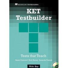 Тесты по английскому языку KET Testbuilder Book with Key and Audio CD