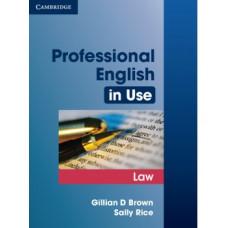 Учебник Professional English in Use Law