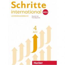 Книга для учителя Schritte international Neu 4 Lehrerhandbuch