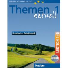 Учебник Themen aktuell 1 Kursbuch und Arbeitsbuch, Lektion 1-5, + CD-ROM