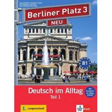 """Учебник Berliner Platz 3 NEU Lehr- und Arbeitsbuch Teil 1 + Audio-CD und """"Im Alltag EXTRA"""""""