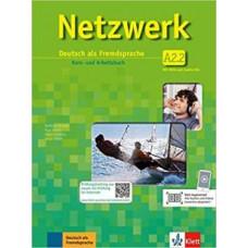 Учебник Netzwerk A2.2. Kurs- und Arbeitsbuch, Teil 2 + Audio-CDs + DVD