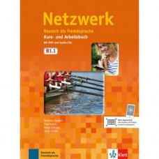 Учебник Netzwerk B1.1. Kurs- und Arbeitsbuch, Teil 1 + Audio-CDs + DVD