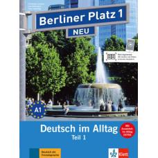 """Учебник Berliner Platz 1 NEU Lehr- und Arbeitsbuch 1, Teil 1 + Audio-CD und """"Im Alltag EXTRA"""""""