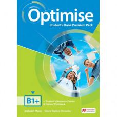 Учебник английского языка Optimise B1+ Student's Book Premium Pack