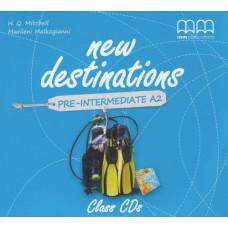 Диски New Destinations Pre-Intermediate A2 Class CDs(2)
