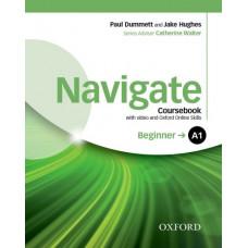 Учебник Navigate Beginner A1 Coursebook with DVD and online skills