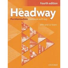 Рабочая тетрадь New Headway (4th Edition) Pre-Intermediate Workbook with Key