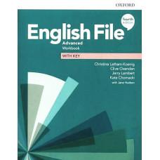 Рабочая тетрадь English File 4th Edition Advanced Workbook with key