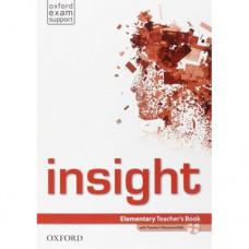 Книга для учителя Insight Elementary Teacher's Book with DVD