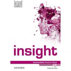 Книга для учителя Insight Intermediate Teacher's Book with DVD
