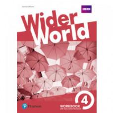 Рабочая тетрадь Wider World 4 Workbook with Online Homework