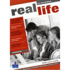Рабочая тетрадь Real Life Pre-Intermediate Workbook + Multi-ROM