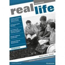 Рабочая тетрадь Real Life Intermediate Workbook + Multi-ROM